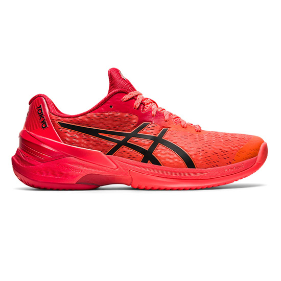 Asics Sky Elite FF Limited Edition Mens Court Shoes (Sunrise Red-Eclipse Black)