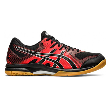 Asics Gel Rocket 9 Mens Court Shoes (Black-Fiery Red)