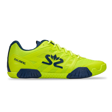 Salming Hawk Mens Court Shoes (Fluo Green-Navy)