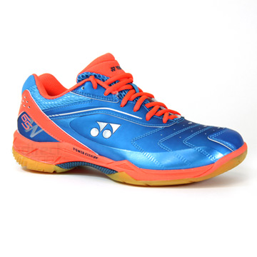 Yonex Power Cushion 65 - Wide - Badminton Shoe (Blue-Coral)