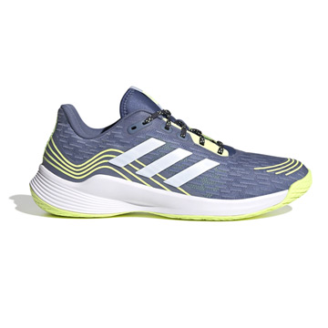 Adidas Men's Novaflight Court Shoes (Crew Blue-Halo Blue/Hi-Res Yellow)