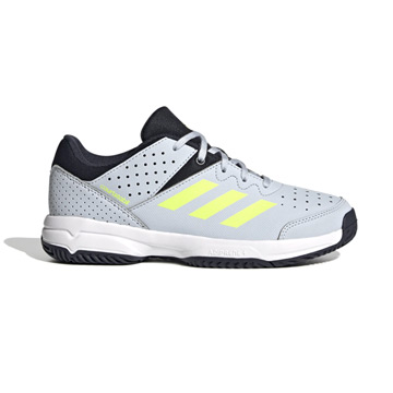 Adidas Court Stabil Junior Court Shoes (Halo Blue-High-Res Yellow/Legend Ink)