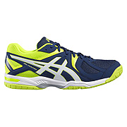 Asics Gel Hunter 3 Mens Court Shoes (Poseidon-White-Safety Yellow)