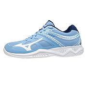 Mizuno Lightning Star Z5 Junior Court Shoes (Della Robbia Blue/White)
